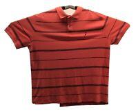 Nautica Performance Shirt Short Sleeve Mens Orange Navy Blue Pull Over Size 3XL