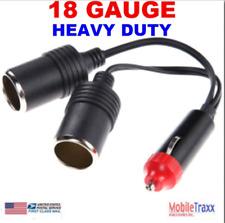 12V 18AWG 10A Heavy Duty Car Cigarette Lighter Power Dual Outlet Splitter