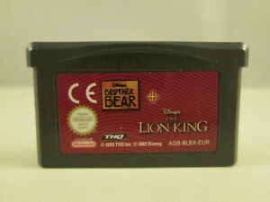Nintendo Gameboy Advance GBA - Brother Bear + The Lion King 2 in 1 Disney