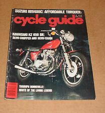 5/1978 Cycle Guide Magazine
