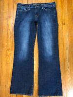 Lucky Brand Womens Sweet N Low Jeans Sz 12/31 Blue Jeans (Measured 33x32)