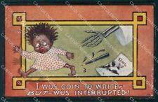 Comica Scheletro Skeleton ABRASA cartolina postcard QT5061
