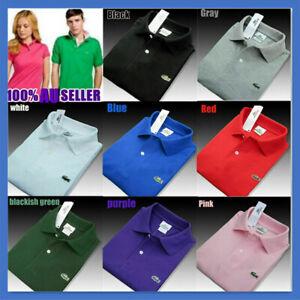 AU Stock Mens Vintage Lacoste 100% Cotton Short Sleeve Polo Slim Fit T Shirt Top