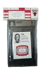 1984-85 Chicago Bulls Michael Jordan Pocket Schedule XRC Pre Fleer Star BGS 9