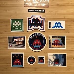 Very Rare SPACE INVADER Art 4 Space 100% Official Sticker Pack 2012 Street Art