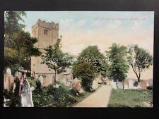 South Wales BRIDGEND St Illtyd's Church c1906 by Valentine