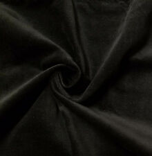 Stretch Black Cotton Velvet Velour Fabric Upholstery Drapery per Yard 54 in Wide
