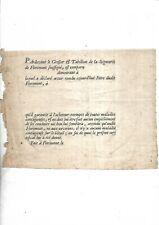 Vers 1750. Attestation vétérinaire. Foire. Bétail. Florimont. Territoire Belfort