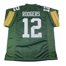 Aaron Rodgers Authentic Signed Autographed Green Bay Packers Green Jersey w/ COA