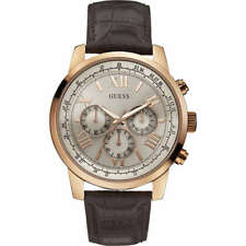 Orologio Uomo Guess Cronografo W0380G4 Oro Rosa Pelle Marrone