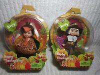 Happy Thanksgiving Kelly Tommy Mattel 2004 Toy Dolls Club Costume Turkey Pilgrim