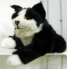KOSEN Made in Germany NEW Maine Coon Cat Black & White Plush Toy