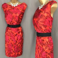 COAST Dress Size 16 RED Shift Occasion Evening Party F311