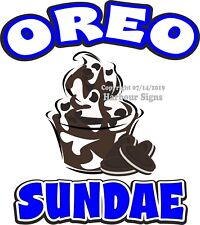 Oreo Sundae Decal (Choose Your Size) Concession Food Truck Vinyl Sticker