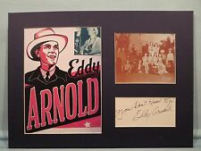 Country Great Eddy Arnold & musical radio show the Camel Caravan & his autograph