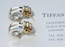 Tiffany & Co 18Ct 18K Yellow Gold Sterling Silver Atlas Bar Earrings