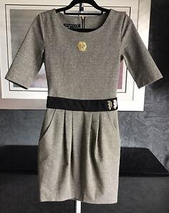 Philipp Plein Ladies Stunning Dress With Gold Thread Brand New Size XS