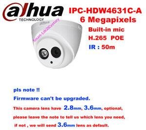 dahua IPC-HDW4631C-A 6MP POE Network IP IR 50M H.265 Built-in Mic Dome Camera222