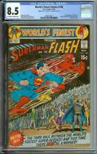WORLD'S FINEST COMICS #198 CGC 8.5 OW/WH PAGES / 3RD SUPERMAN VS FLASH RACE 1970