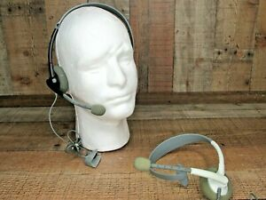 Microsoft Xbox 360 Wired Headset With Mic White Gray (2 Headsets)