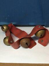 Vintage Christmas Bells On A Plastic Belt