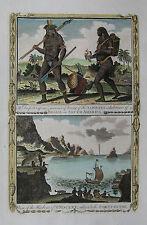 Brasilianische Ureinwohner - St. Vincent - Baldwyn - Originaler Kupferstich 1794
