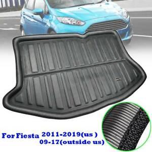 For Ford Fiesta Hatchback 09-17 Cargo Boot Liner Rear Trunk Mat Floor Carpet Pad