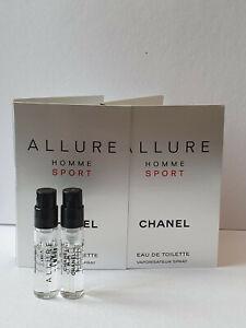 2 x  Chanel Allure Homme Sport EDT original carded sample sprays