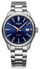 Rotary   Heren Armband In Edelstaal   Blauwe GB05092/53 Horloge
