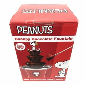 Peanuts Snoopy Chocolate Fountain Fondue By Smart Planet Snoopy Spins on Top New