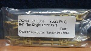 """Q-CAR O BRASS 84"""" SINGLE TRUCK CAR SIDE FRAMES 601642"""