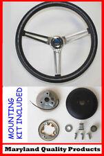 "Dodge Ram Charger Grant Black Steering wheel fixed column 15"""