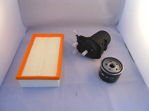 Service Kit To Fit Nissan Note 1.5 DCi Diesel Oil Air Fuel Filter 2006 Onwards