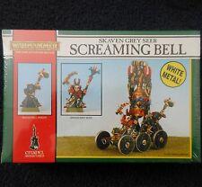 1993 Skaven gritando Bell caos ratmen Citadel Warhammer ARMY Gris vidente MIB GW