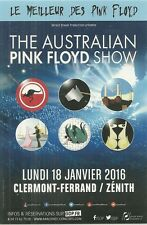 FLYER PLV - THE AUSTRALIAN PINK FLOYD SHOW EN CONCERT LIVE 2016 ( FRANCE )