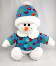 "Mint 20"" DAN DEE Collector's Choice SNOWMAN *JET BEADS EYES-SMILE Plush Stuffed"