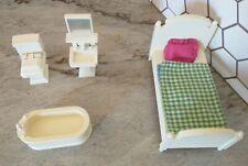 Pottery Barn Kids Westport Dollhouse Furniture Lot Bedroom Bathroom Set
