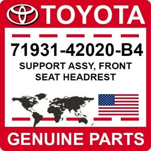 71931-42020-B4 Toyota OEM Genuine SUPPORT ASSY, FRONT SEAT HEADREST