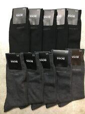 NEW 10 PAIRS DESIGNER HUGO BOSS MEN'S SOCKS Black, Grey COLORS US Size 7-9