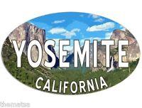 "YOSEMITE CALIFORNIA NATIONAL PARK OVAL  5"" USA MADE STICKER DECAL"