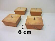 4 von 8 Couchfüße Sofafüße Holzbeine Möbelfüße Tischbeine Holzfüße L. 6 cm