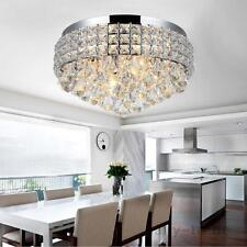 Modern 14 Inch Crystal LED Ceiling Flush Mount lights Chandeliers Pendant Light