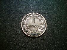 1859 B Austria 1 Kreuzer Coin. ottime qualità EF