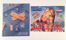 Super Nintendo Dennis the Menace 1993 Calendar & Sunsoft Loony Tunes Poster LOT