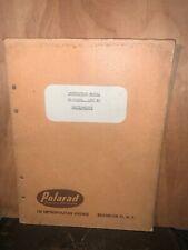 Polarad Oscilloscope KS-15512 Instruction Manual, Parts List.