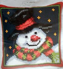 "VERVACO CROSS STITCH PILLOW KIT ""SNOWMAN"""