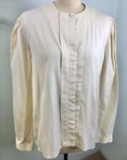 Vintage 80's Laura Ashley Beige Long Sleeve Blouse Medium Large