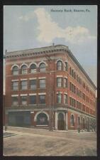 POSTCARD SHARON PA/PENNSYLVANIA HARMONY BANK BUILDING 1907