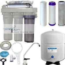 Dual Use Reverse Osmosis Water Filter Systems DI/RO 150 GPD Large RO Tank 6 GAL
