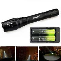 Zoomable 4000Lumen 5 Modes CREE XML T6 LED Super Torch Lamp Light 18650&Charger